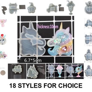 2D Unicorn#2 Silicone Mold Mould Sugarcraft Candle Soap Chocolate Polymer Clay Melting Wax Resin Tools Ornament Handmade