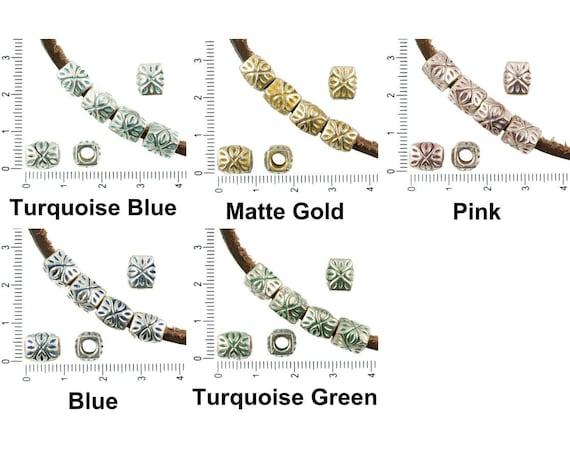 6pcs Antique Bronze Tone Patina Wash Large Hole European Style Owl Bird Charm...