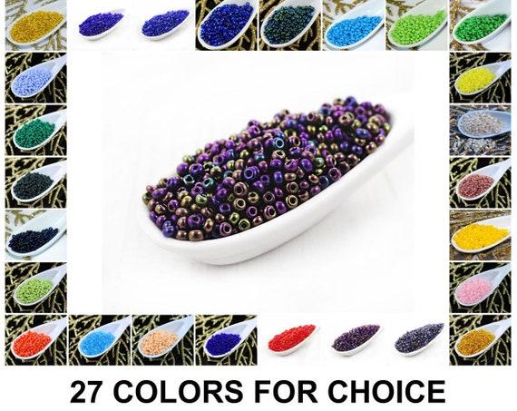 Czech Glass Seed Beads Size 10//0 Opaque Purple