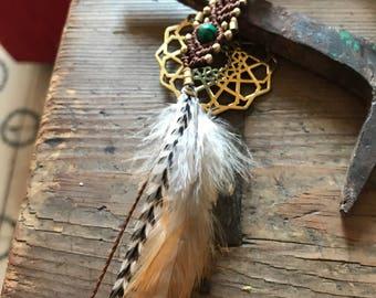 feather dreadlocks beads, rastas, dreads decoration, dreadbead, malachite, feathers, handmade