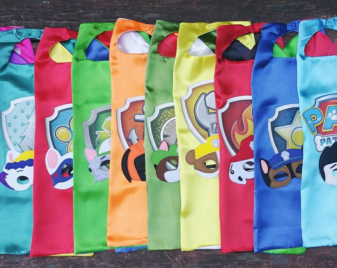 Featured listing image: Ready to ship, Paw Patrol,Chase, Marshall, Skye, Everest, Rocky, Rubble & Ryder, Kids Capes Play (SHIPS FROM US) Ships 1 or 2 days