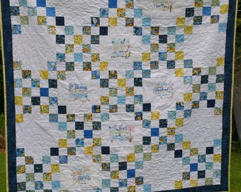 Modern Quilt Pattern, Easy Quilt Patterns, Quilt Pattern PDF, Lap Quilt Pattern, Machine Embroidery Pattern