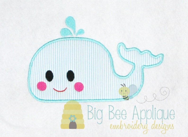 Whale applique design machine embroidery design nautical etsy