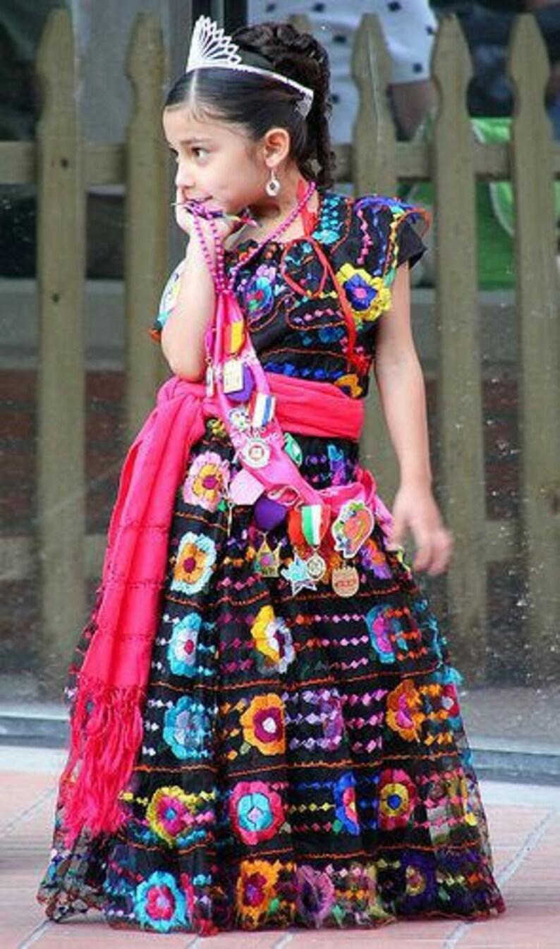 0732596139e Chiapas Dress Original Hand Embroidered Folk Dress Mexican