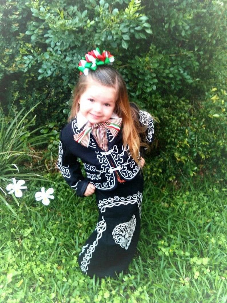 3bf0f1e5e Beautiful 5 pieces Girl Charro Suit Black &Silver Charro Suit | Etsy