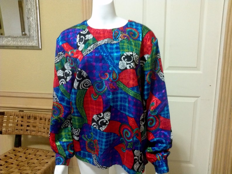 662a708fbbc70 Vintage LAURA   JAYNE Collection Long-Sleeves Top Blouse