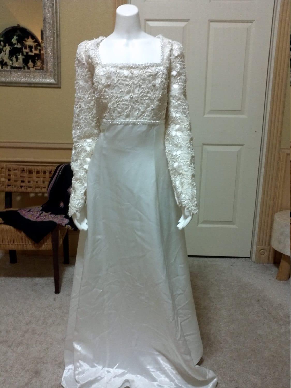 Beautiful Dream Wedding Dress by Mori Lee,Wedding Dress with Chapel Train,Vintage Wedding DressSize 10