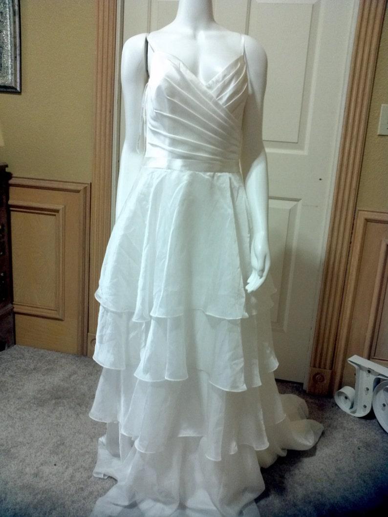 Layered Chiffon Dress David's Bridal