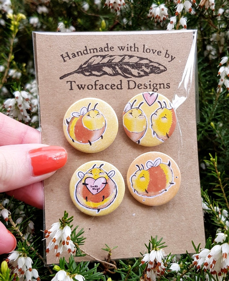 cute bumble bee badges