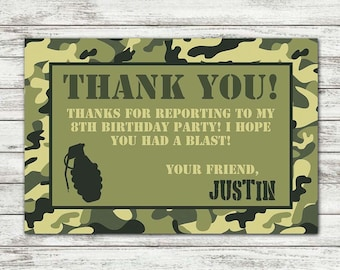 photograph relating to Military Thank You Cards Free Printable named Navy thank by yourself Etsy