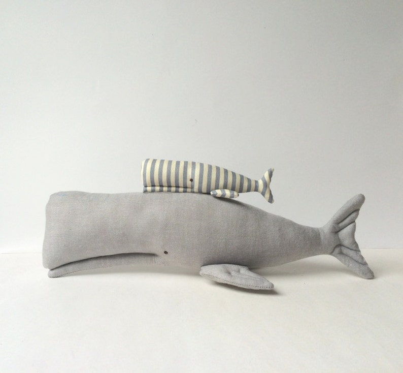 Stuffed Whales whale toy Plush grey aquatic toys. Nautical image 0
