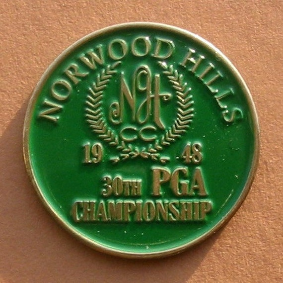 Ben Hogan golf win Old Golf Ball Marker for the 1948 US PGA | Etsy