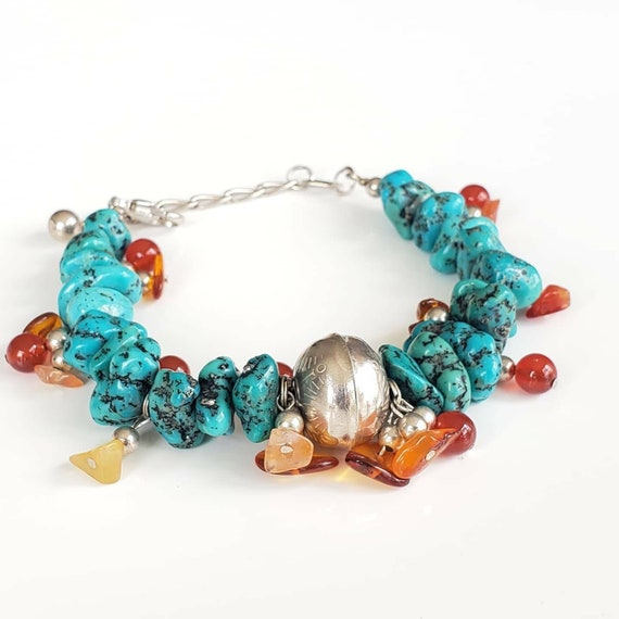 Navajo Turquoise  Bracelet, Southwestern Bracelet,