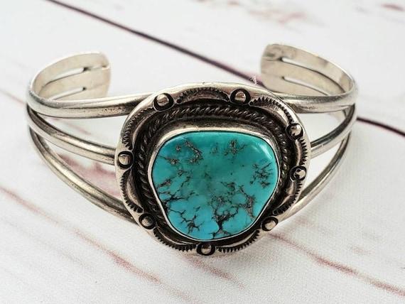 Southwestern Bracelet with Turquoise, Small Size,