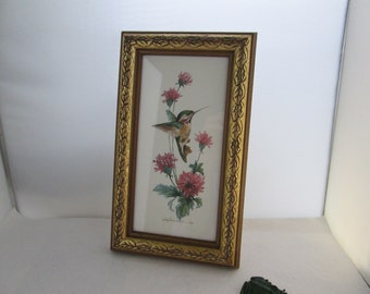 3bd0f8b4c7f6 Carolyn Shores Wright Hummingbird Watercolor Art Small Framed Picture Framed  Floral Flower Art Flowers and Bird picture Vertical picture
