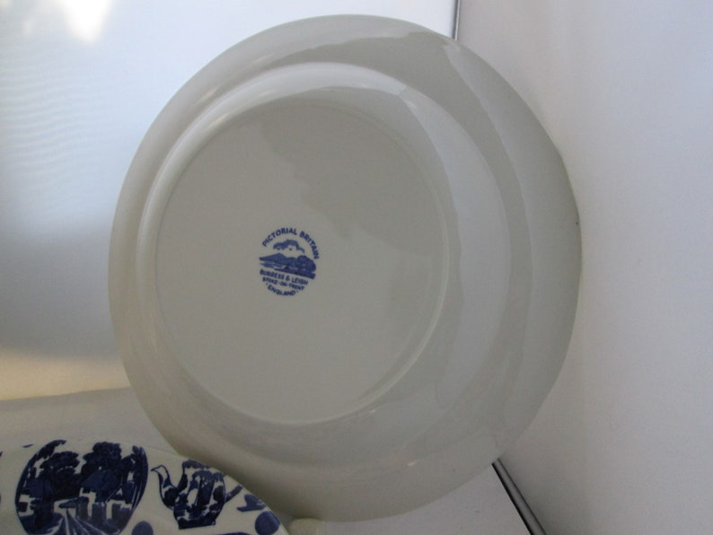 Vtg Fun China Burgess /& Leigh Pictorial Britain Dinner Plates Set of 3 English China Blue transferware China Plate Blue and white plates