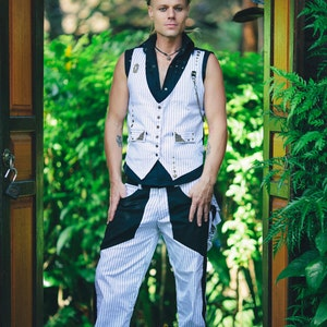 Mens Suit White Two Piece Suit Wedding Burning Man Etsy