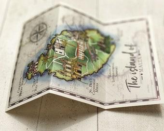 Wedding Map | Vintage Travel | To match a range of travel stationery