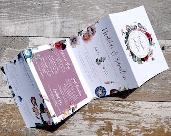 Folded Wedding Invitation   Lilac Botanical   Cards & Envelopes   Fully Personalised