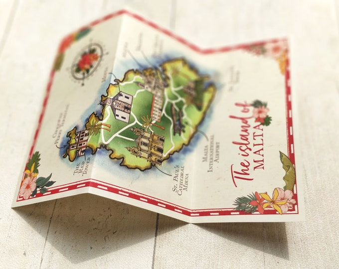 Wedding Map | Tropical Travel | To match a range of travel stationery