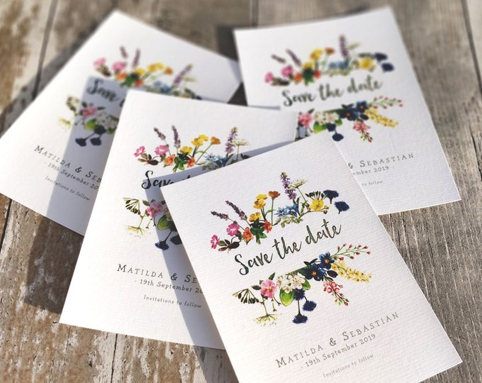 Save the Date | Wild Flower Garden | Fully Personalised