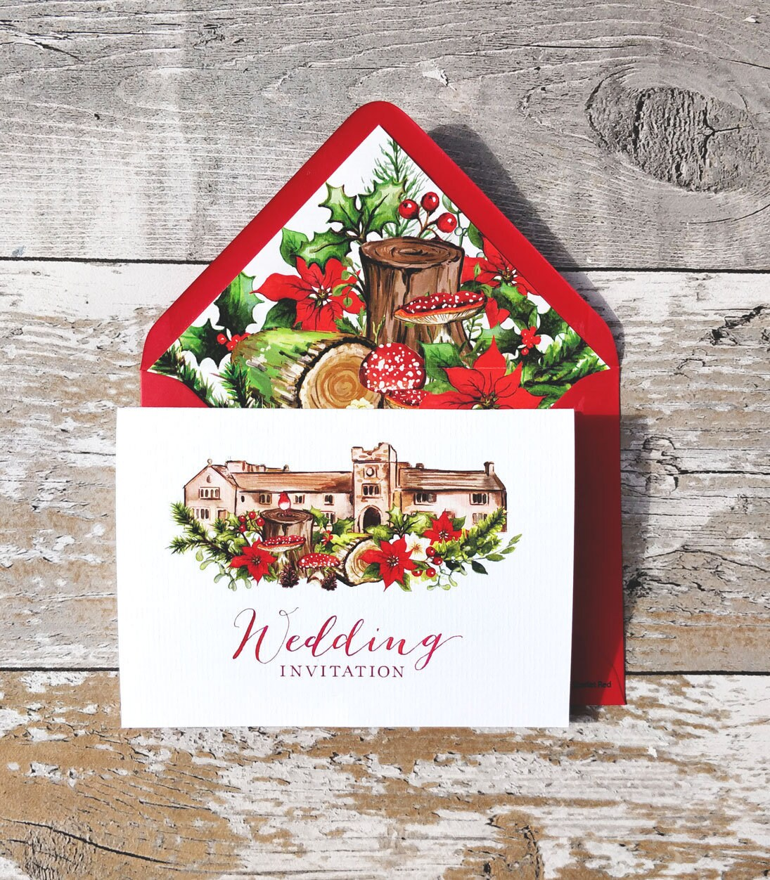 Wedding Venue Invitation | Christmas Woodland Concertina with ...