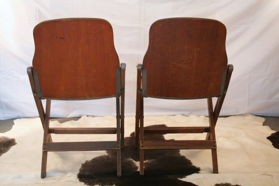 Magnificent Vintage Military Folding Chairs Wwii U S Army 1940S American Seating Co Grand Rapids Inzonedesignstudio Interior Chair Design Inzonedesignstudiocom