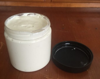 Homemade cold cream. Original Recipe. 100% organic. With grapeseed and sweet almond oil