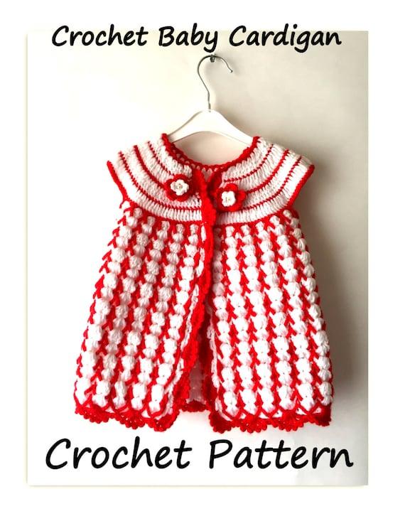 Crochet Baby Spring Dress Free Pattern Crochet Cardigan Etsy