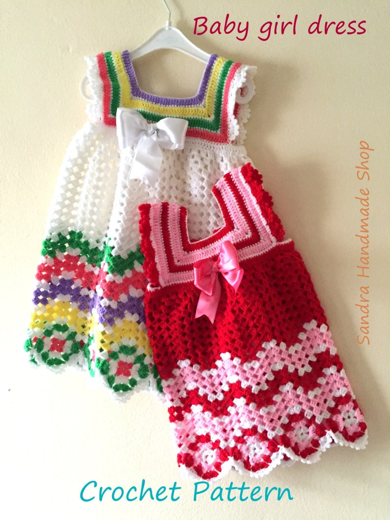 3d672b27f276 Crochet Baby Dress PATTERN Gift For Baby Girl Babyshower