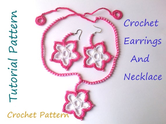 Crochet Jewelry Pattern Handmade Gift Dangle Earrings And Etsy