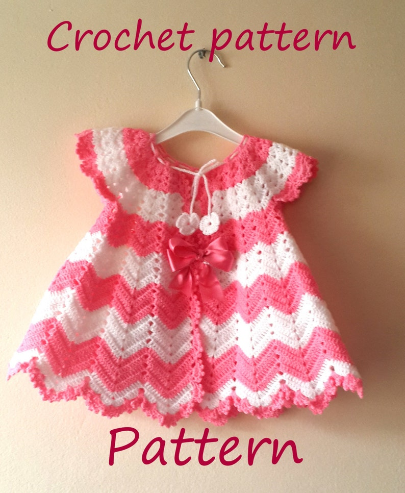 b3bc23455746 Crochet Baby Dress Pattern First Outfit Easter Baby Shower