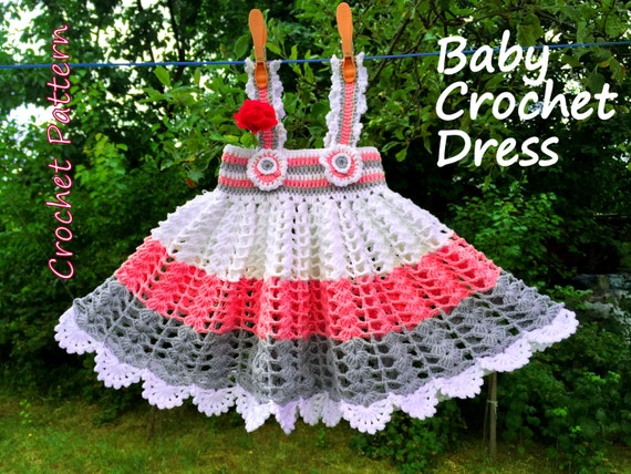 Crochet Pattern Baby Girl Crochet Dress Newborn 3 9 Months Etsy