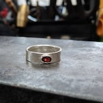 Skyrim Cosplay Silver Ring with Garnet, White Topaz (for Diamond), or Amethyst