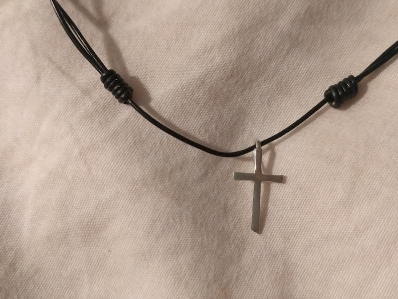 Tiny Sterling Cross image 0