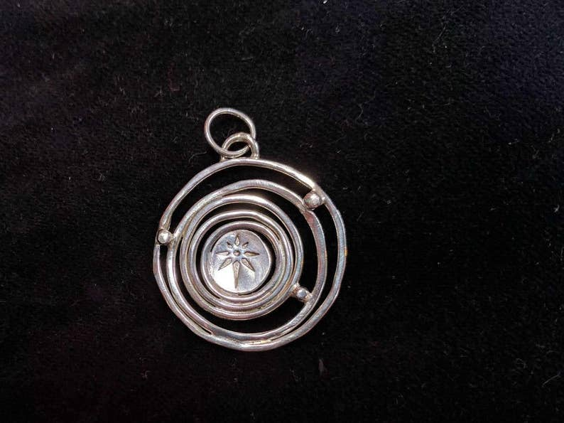 Sterling Silver Starry Pendant image 0