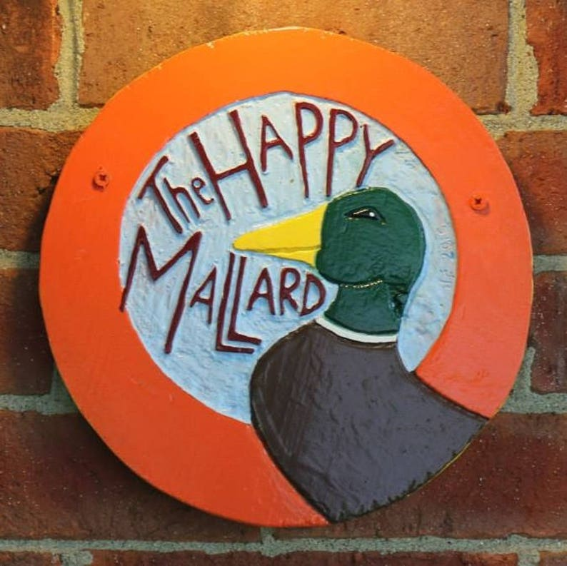 Hand Carved & Painted Wooden Pub Signs made to order image 0