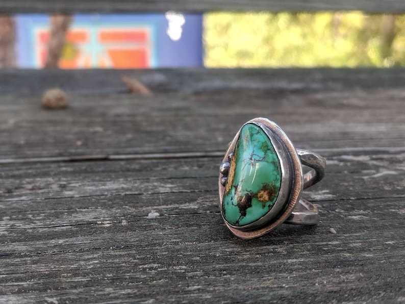 The Heart of the Mine Turquoise & Sterling Ring image 0