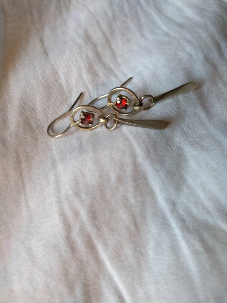 Garnet Dreamcatcher Earrings image 0
