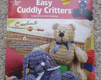 Crochet Pattern Book - Easy Cuddly Critters - Annie's Attic #121280