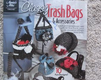 Crochet Pattern Book - Classy Trash Bags & Accessories - Annie's Attic #878552