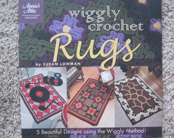 Crochet Pattern Book - Wiggly Crochet Rugs - Annie's Attic #879520