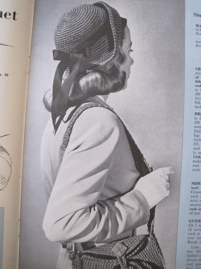 Hat and Bag Vintage Crochet Pattern