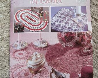 Crochet Pattern Book - Doilies in Color - Annie's Attic #879814 - Vintage 1996
