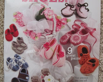 Crochet Pattern Book - Beautiful Baby Shoes - Annies Attic #871035 - Nine Designs - NEW
