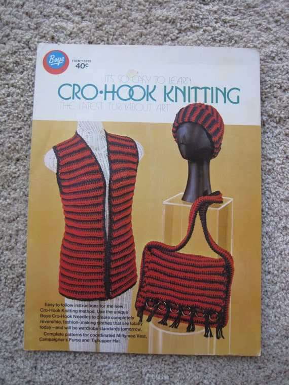 Artículos similares a Cro-Hook Pattern Book - Instructions for the ...
