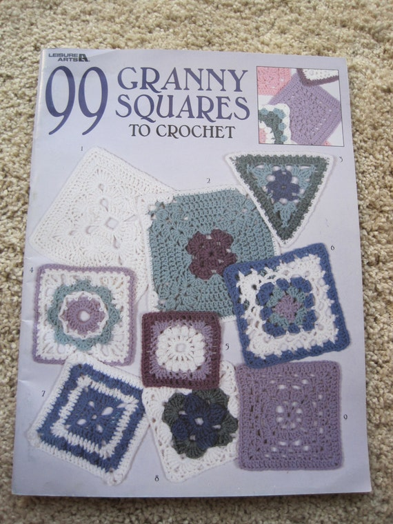 Crochet Pattern Book 90 Granny Squares To Leisure