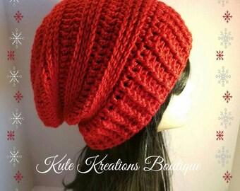 Crochet Slouchy Hat/Stylish Slouchy Hat/Slouchy Beanie.