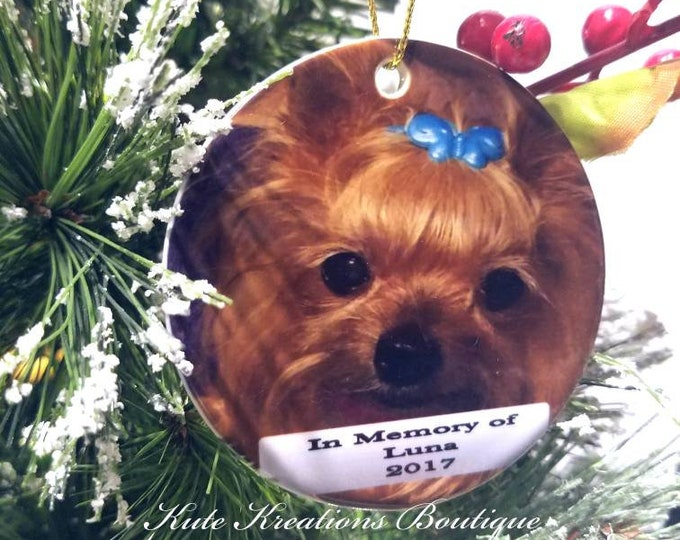 Featured listing image: Memorial Pet Ornament/Pet loss Memorial Ornament/Pet Memorial Ornament