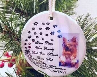Memorial Pet Ornament/Pet loss Memorial Ornament/Pet Memorial Ornament/Your Paws Were ready